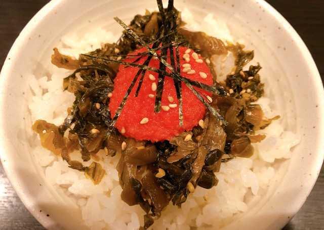 明太高菜飯の画像
