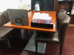 テーブル席の画像